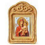 """Икона Божией Матери """"Скоропослушница"""", резная деревянная рамка - Иконы"""