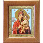 """Икона Божией Матери """"Скоропослушница"""", широкая рамка 14,5*16,5 см - Иконы"""