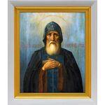 Преподобный Симеон Столпник Дивногорец, икона в белом киоте 19*22 см - Иконы