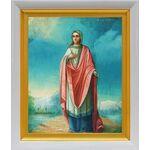 Преподобномученица Анастасия Римляныня, икона в белом киоте 19*22 см - Иконы