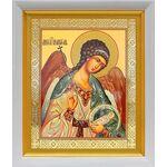 Ангел Хранитель поясной, икона в белом киоте 19*22 см - Иконы