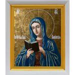 Калужская икона Божией Матери, белый киот 19*22 см - Иконы