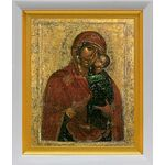 Толгская икона Божией Матери, белый киот 19*22 см - Иконы