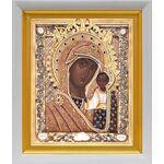 Казанская Ярославская икона Божией Матери, белый киот 19*22 см - Иконы