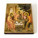 Святая Троица, Симон Ушаков, 1671 г, икона на доске 13*16,5 см - Иконы