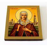 Мученица Елисавета Самовская, икона на доске 14,5*16,5 см - Иконы