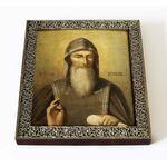 Преподобный Зосима Верховский, икона на доске 14,5*16,5 см - Иконы