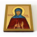 Преподобномученица Мария Грошева, икона на доске 14,5*16,5 см - Иконы