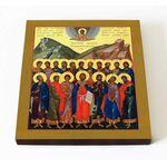 Месукевийские мученики, икона на доске 14,5*16,5 см - Иконы