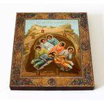 Семь отроков Ефесских, икона на доске 14,5*16,5 см - Иконы