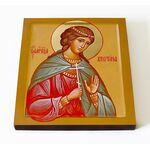 Мученица Христина Кесарийская, икона на доске 14,5*16,5 см - Иконы