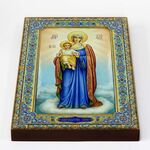 """Икона Божией Матери """"Благодатное небо"""", печать на доске 18*26 см - Иконы"""
