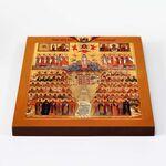 Собор Рязанских святых, икона на доске 22*25 см - Иконы