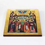Собор преподобных Оптинских старцев, икона на доске 30*36 см - Иконы