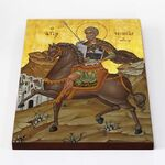 Великомученик Мина Котуанский, Фригийский, икона на доске 30*40 см - Иконы