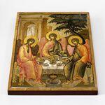 Святая Троица, Симон Ушаков, 1671 г, икона на доске 30*40 см - Иконы