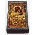 Иверская икона Божией Матери, Афон, печать на доске 7*13 см - Иконы