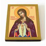 """Икона Божией Матери """"Помощница в родах"""", доска 8*10 см - Иконы"""