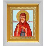 Преподобная Мелания Римляныня, икона в белом киоте 14*16 см - Иконы