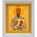Святитель Арсений Элассонский, Суздальский, белый киот 14*16 см - Иконы