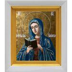 Калужская икона Божией Матери, белый киот 14*16 см - Иконы