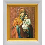 Казанская Песчанская икона Божией Матери, белый киот 14*16 см - Иконы