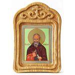 Преподобный Максим Исповедник, икона в резной рамке - Иконы