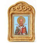 Святитель Григорий Богослов, икона в резной рамке - Иконы