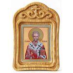 Святитель Мирон Критский, икона в резной рамке - Иконы