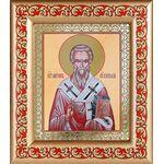 Святитель Мирон Критский, икона в рамке с узором 14,5*16,5 см - Иконы