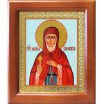 Преподобная Мелания Римляныня, икона в деревянной рамке 12,5*14,5 см - Иконы