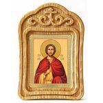 Мученик Анатолий Никейский, икона в резной рамке - Иконы