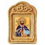 Благоверный князь Владислав Сербский, икона в резной рамке - Иконы