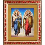 Архангелы Михаил и Гавриил, икона в рамке с узором 19*22,5 - Иконы