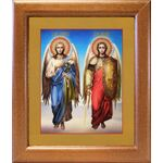Архангелы Михаил и Гавриил, икона в широкой рамке 19*22,5 см - Иконы