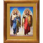 Архангелы Михаил и Гавриил, икона в рамке 17,5*20,5 см - Иконы
