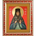 Преподобномученица Ева Павлова, игумения, рамка с узором 19*22,5 см - Иконы