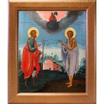 Святые Прокопий и Иоанн Устюжские, XVIII век, широкая рамка 19*22,5 см - Иконы