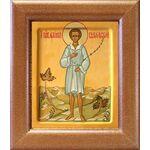Праведный Артемий Веркольский, отрок, икона в широкой рамке 14,5*16,5 - Иконы