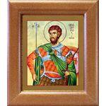 Великомученик Феодор Тирон, икона в широкой рамке 14,5*16,5 см - Иконы