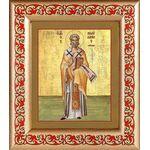 Священномученик Поликарп, епископ Смирнский, рамка с узором 14,5*16,5 - Иконы