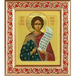 Мученик Иоанн Новый, Янинский, икона в рамке с узором 14,5*16,5 см - Иконы