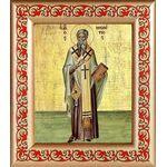 Святитель Мелетий Антиохийский, рамка с узором 14,5*16,5 см - Иконы