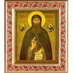 Преподобный Евфимий Суздальский, рамка с узором 14,5*16,5 см - Иконы