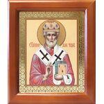 Святитель Николай Мирликийский Чудотворец, деревянная рамка 12,5*14,5 - Иконы