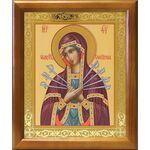 Икона Божией Матери «Семистрельная», рамка 17,5*20,5 см - Иконы