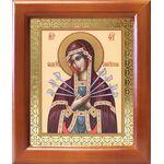 Икона Божией Матери «Семистрельная», рамка 12,5*14,5 см - Иконы