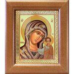 Казанская икона Божией Матери в зеленом облачении, рамка 14,5*16,5 - Иконы