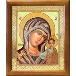 Казанская икона Божией Матери в зеленом облачении, рамка 17,5*20,5 см - Иконы