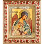 Ангел Хранитель поясной, рамка с узором 14,5*16,5 см - Иконы